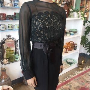 Vintage Black Dress Beautiful!!